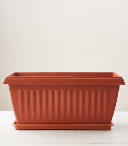 Rectangle Planter 4 Pot With Tray